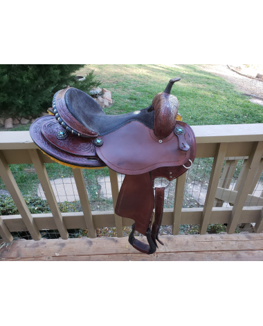 "16 "" Double T Barrel Saddle with Butterfly Skirt"