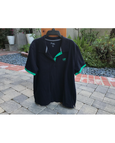 Piper Short Sleeve Polo Shirt - XXL - Navy with Green