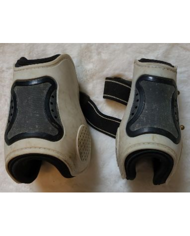 White HKM Hind boots open front