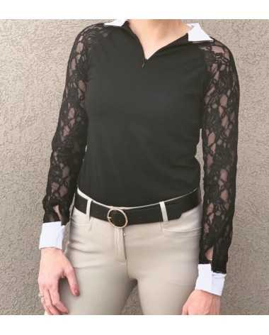 New Rose & Lace Equestrian Lace Show Shirt