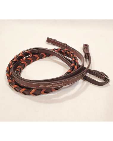 Americana Flat Fancy Stitched Laced Reins - Full - New!