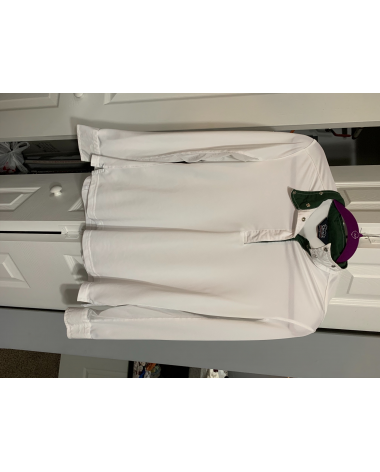 Shires Classics Show Shirt with Green Collar