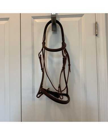 Devoucoux Chiberta Bridle - Size L/XL - Medium Brown