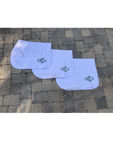 Roma Baby Saddle Pads   Set of 3   White with green