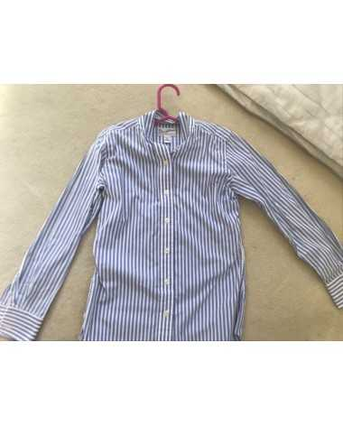 Size 10 children's Blue and white pinstripe tailored sportsman show shirt