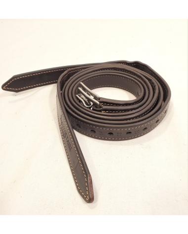 """Voltaire Calfskin Lined Stirrup Leathers - 115 cm/46"""""""