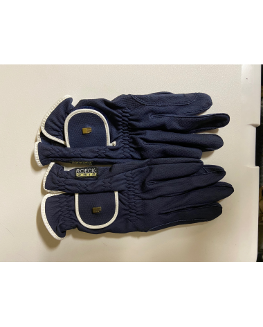 Navy and White Roeckl Gloves