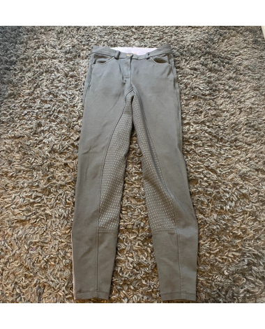 Grey Silicone Full Seat Breeches