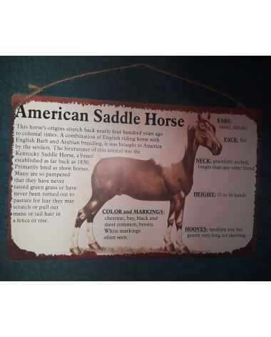 American Saddle Horse Sign