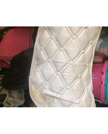 ovation white pattern saddle pad