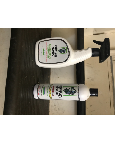 cowboy magic greenspot remover and yellowout shampoo (both have 70% product in them)