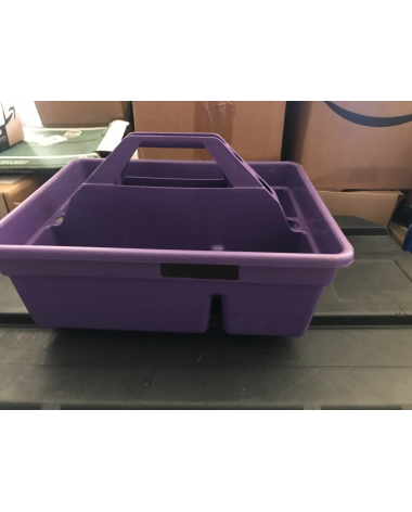 purple grooming organizer