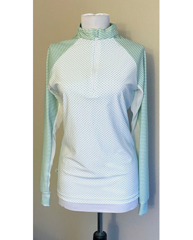 Mint and white sunshirt by Haggertys, size M