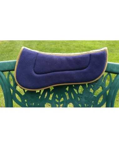 Wilker's Half Pad, Horse Size, Navy Blue with Tan Trim