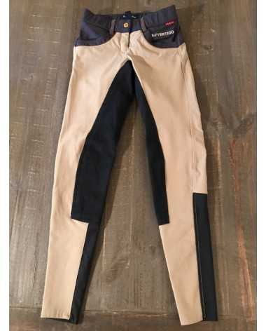 20R B Vertigo Melissa Full Seat Breeches in Mink Grey