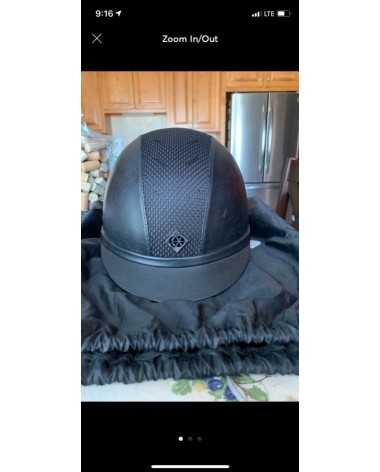 Leather Charles Owen Helmet
