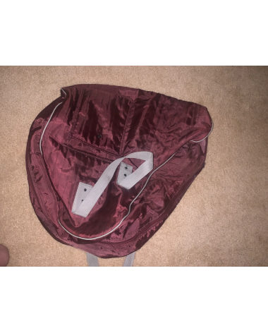 Maroon or burgundy Saddle cover