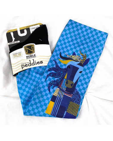 Noble Outfitters over the calf peddies rider socks with padded foot