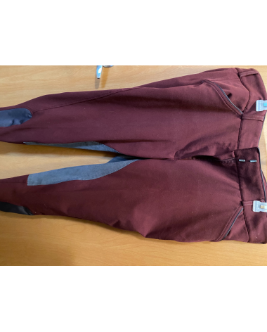 Discontinued wine Dover breeches, Size 36