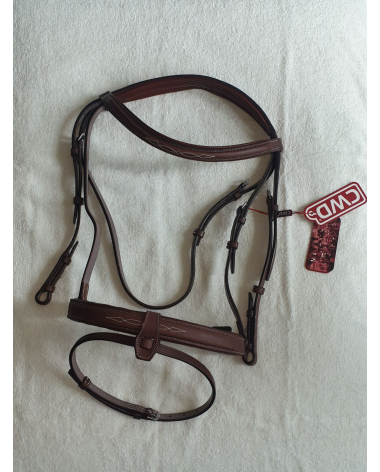 CWD Hunter bridle with fancy stitching size 3