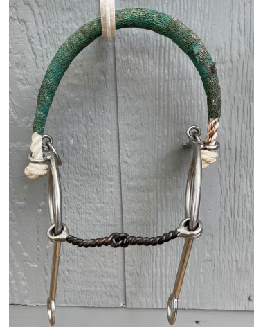 """4 1/2"""" Twisted Snaffle Bit with Slip Shank and Nose Band"""