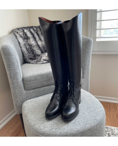 Ovation Amazonas Riding Boots Leather Sz 8 Equestrian Lace