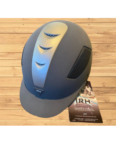 IRH Riding Helmet New with Tags Long Oval 6 7/8 Grey